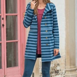 Matilda Jane Fall Breeze Blue Striped Long Jacket